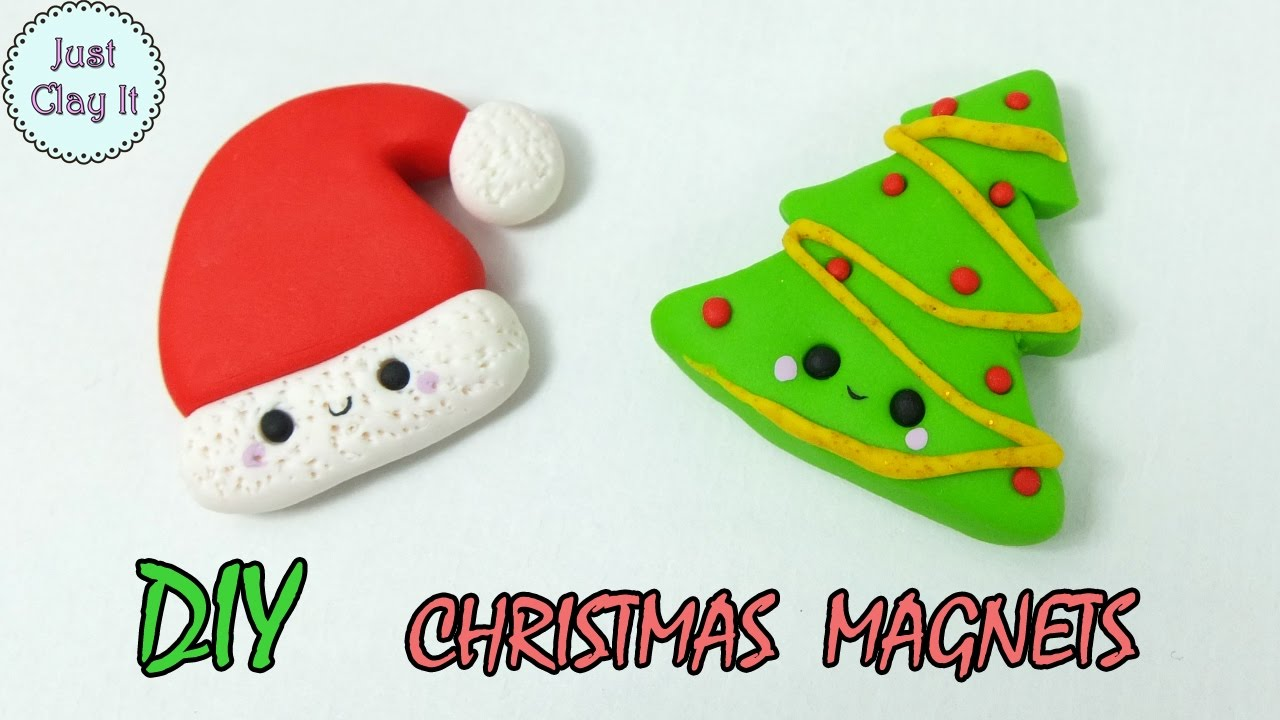 Christmas Polymer Clay Tutorial Diy Christmas Gifts Ideas Youtube