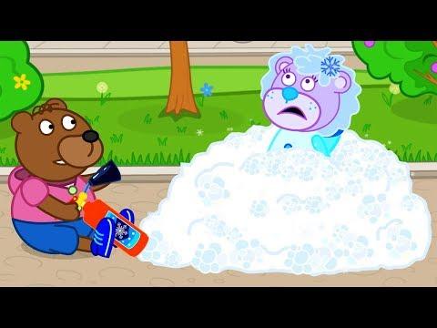 Lion Family Snow Maiden Cartoon for Kids