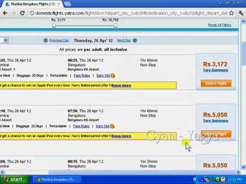 Getting Information & Ticket Booking for Air Travel in Hindi
