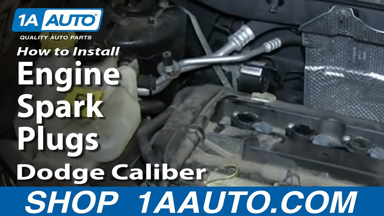 How To Replace Spark Plug 07 12 Dodge Caliber Youtube