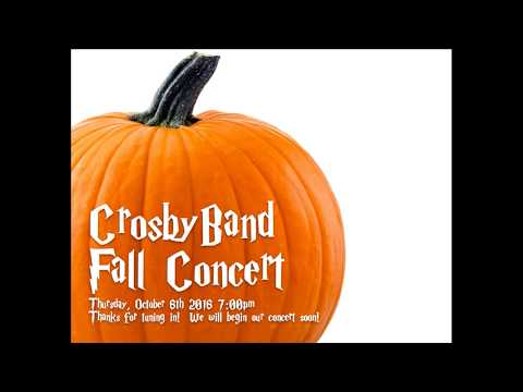 2016 Crosby Band Fall Concert
