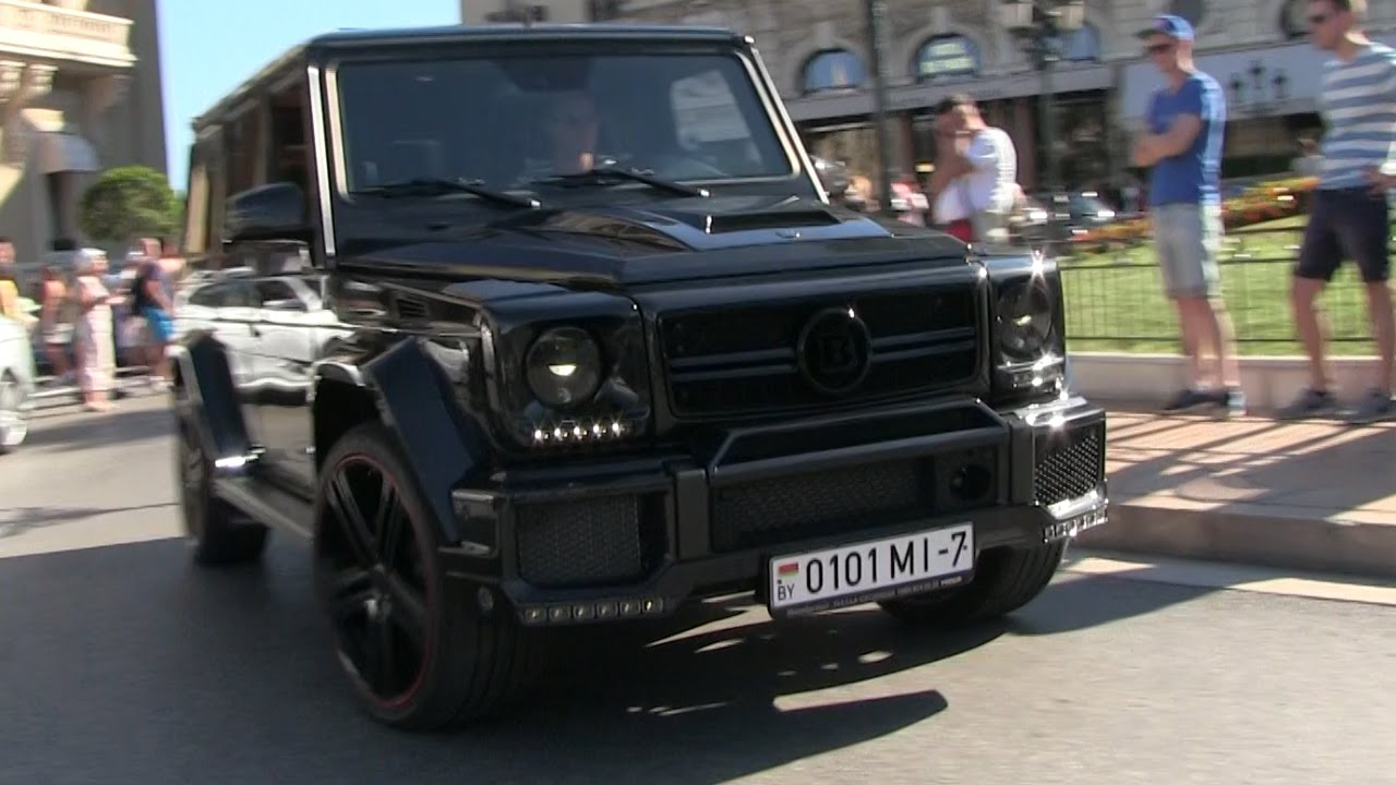 700hp 39 brabus b70 39 mercedes g63 amg in monaco epic sound. Black Bedroom Furniture Sets. Home Design Ideas