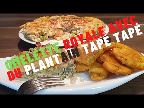 omelette-royale-et-saine-aux-emincÉs-de-poulet-avec-du-plantain-tapÉ-tapÉ
