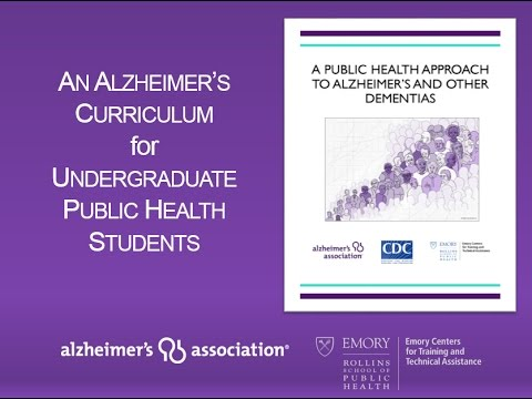 ASPPH Presents: New Undergraduate Curriculum Introduces Students to Alzheimer's and Dementia
