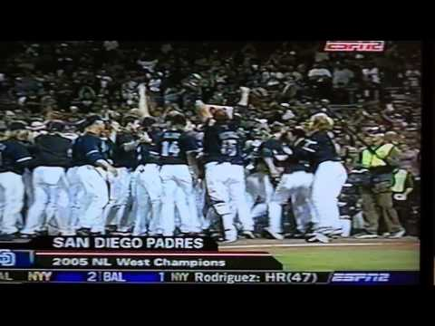 2005 Padres clinch