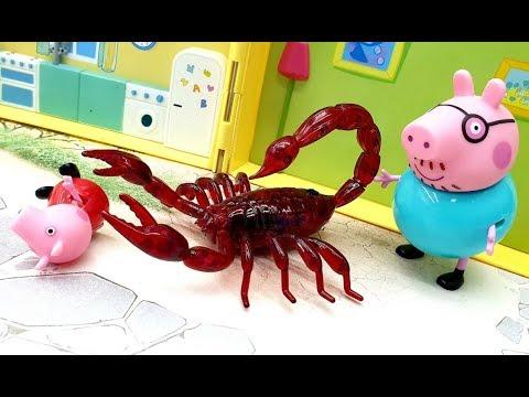 Мультики для детей с  игрушками Герои в масках - Страшилища из сетки. Новые видео про жуков и пауков