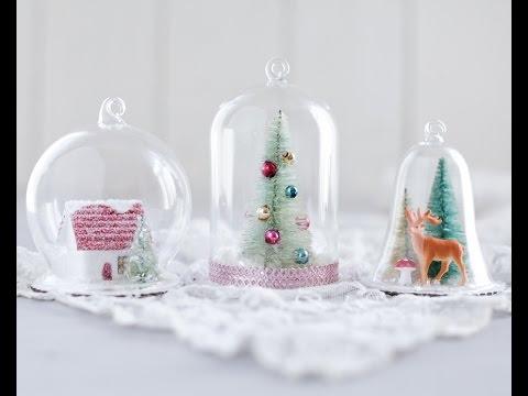 Diy Snow Globe Ornaments Fun Christmas Crafts Youtube