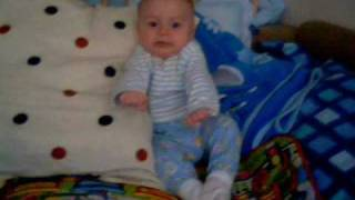 baby rides motorcycle with a crazy frog and crashes.wmv