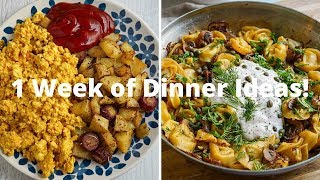 Everything I Ate for Dinner This Week 🌱 Easy Meal Ideas!