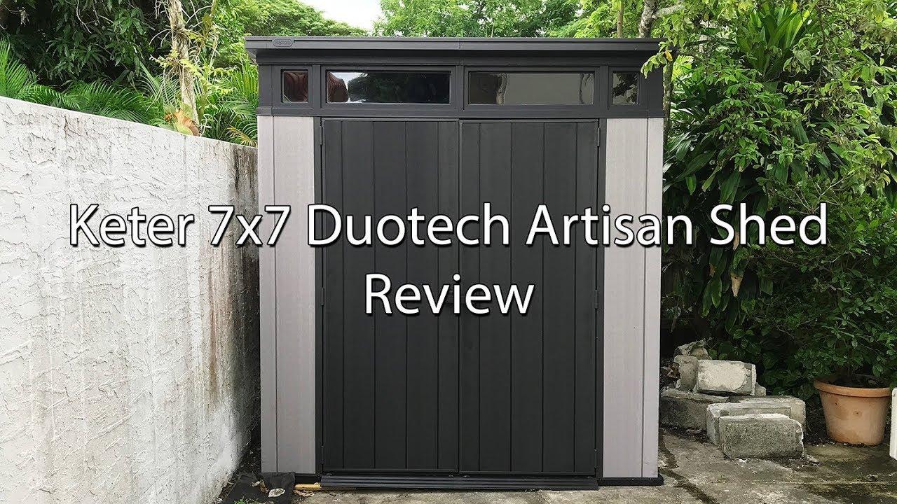 Costco Keter 7x7 Artisan DuoTech Shed Review