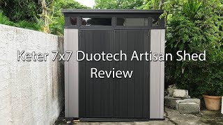 Costco Keter 7x7 Artisan DuoTech Shed Review