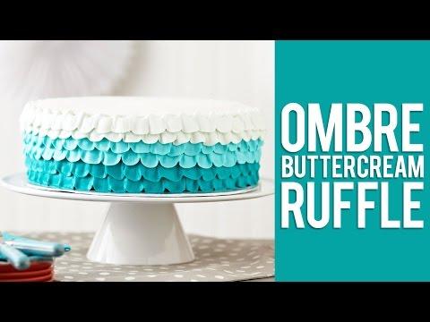 How to Make An Ombré Ruffle Cake