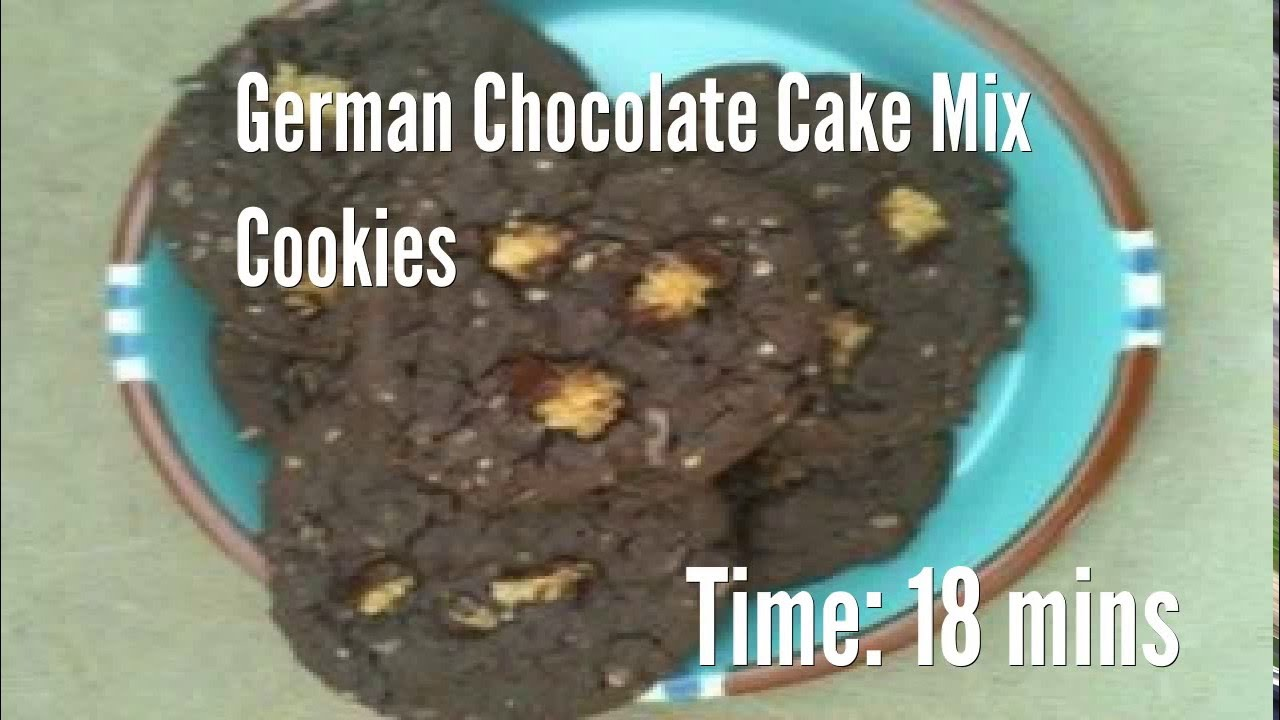 German chocolate cake mix recipes cookies