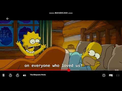 The Simpsons Movie Bart Skating Naked Scene Youtube