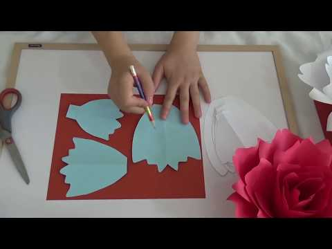 "DIY ""Snow""  Flower Template Making Tutorial"