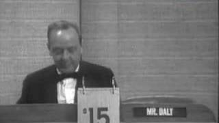 The Final What's My Line? 1967 John Daly As Mystery Guest