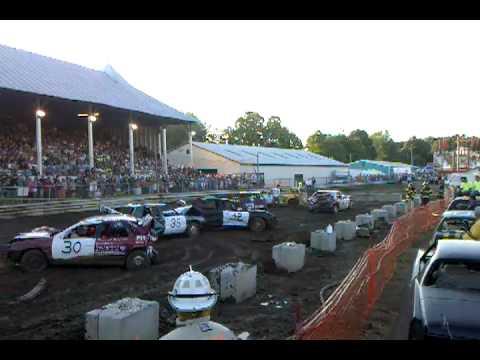 Saratoga County Fair Demolition Derby 7/25/10