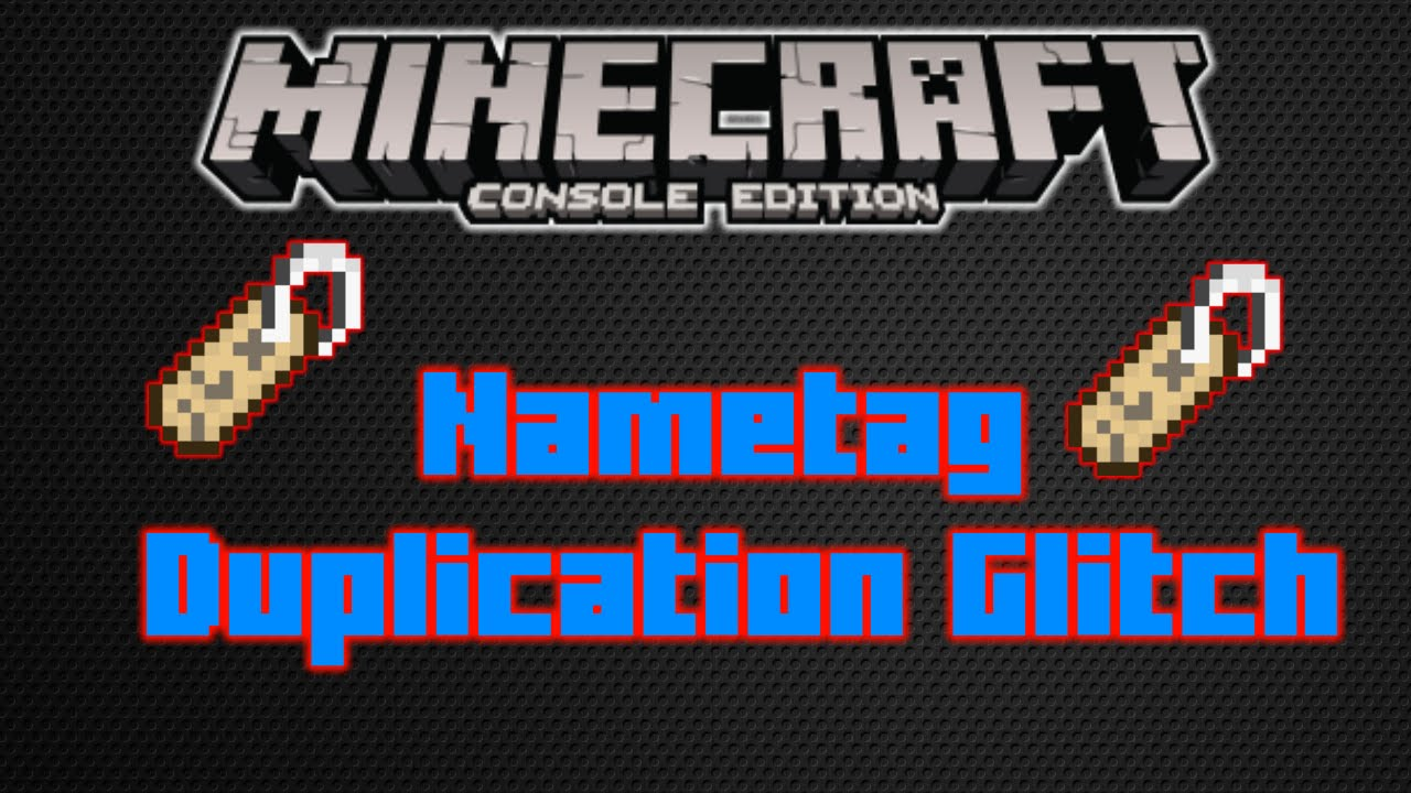 how to make a nametag in minecraft ps4