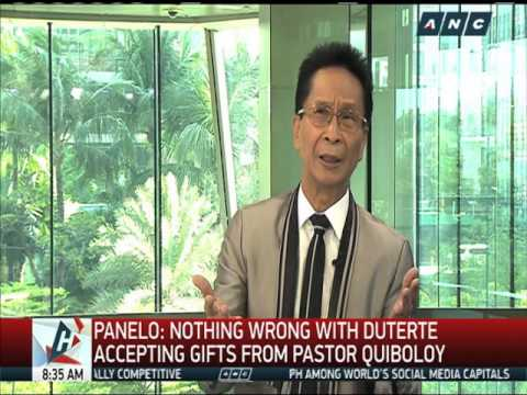 Nothing wrong with receiving gifts, says Duterte lawyer