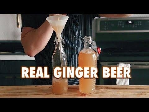 3 Ingredient Homemade Fermented Ginger Beer