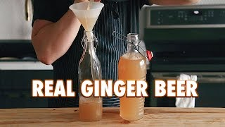 3 Ingredient Homemade Fermented Ginger Beer