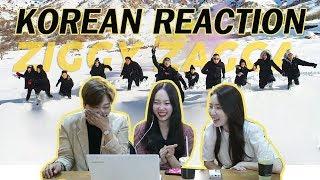 REAKSI CEWEK KOREA  ZIGGY ZAGGA-GEN HALILINTAR/KOREAN REACTION MUSIC VIDEO