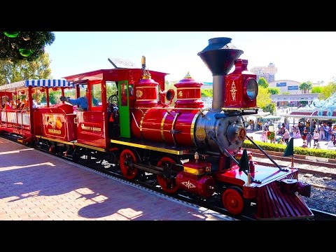 [4K] Disneyland Railroad Train – Main Street Round Trip : 2014 POV – Disneyland Resort, California
