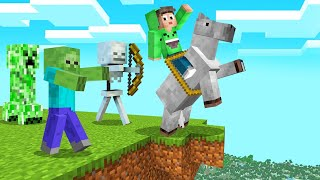 MINECRAFT + STUCK On A HORSE = DANGEROUS! (Funny Mod)