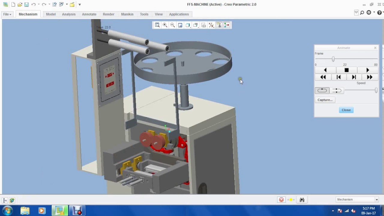 ffs high speed packing machine 3d model - youtube