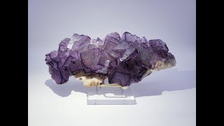 Fluorite on Botryoidal Quartz from Qinglong Mine, Guizhou, China
