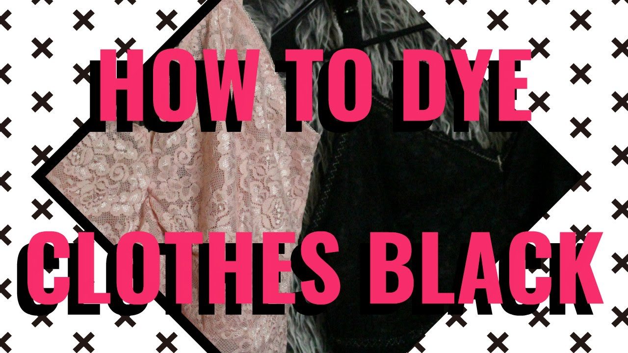 how to use black dye on clothes