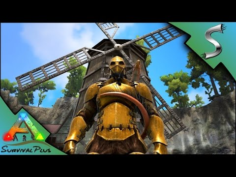 BRONZE ARMOR & THE WINDMILL! - Ark: Survival Plus [Gameplay E12]