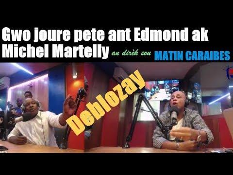 Gwo JOURE pete ant Michel Martelly ak animatè Edmond an dirèk nan  Matin Caraïbes