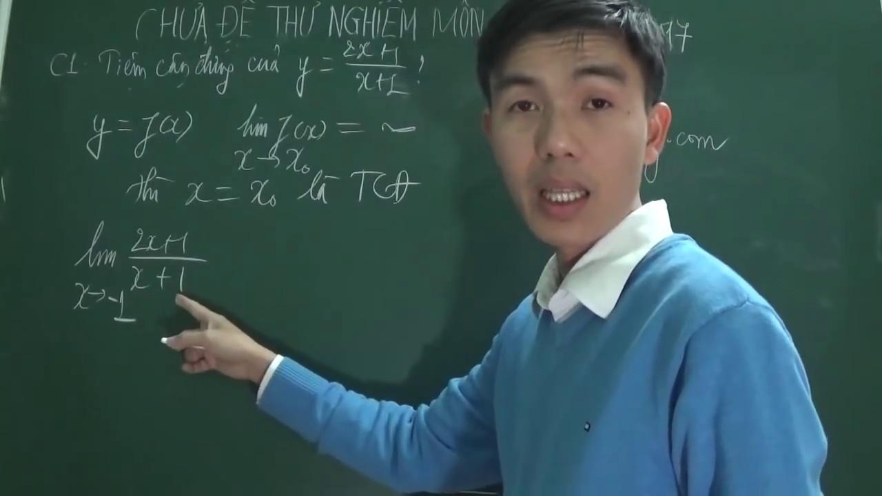 Đề thử nghiệm môn Toán kỳ thi THPTQG 2017 của Bộ giáo dục (phần 1)