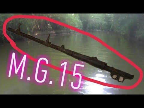 Pêche à l aimant militaria : je trouve une mg 15 et des pots de grenade à manches + douille allemand