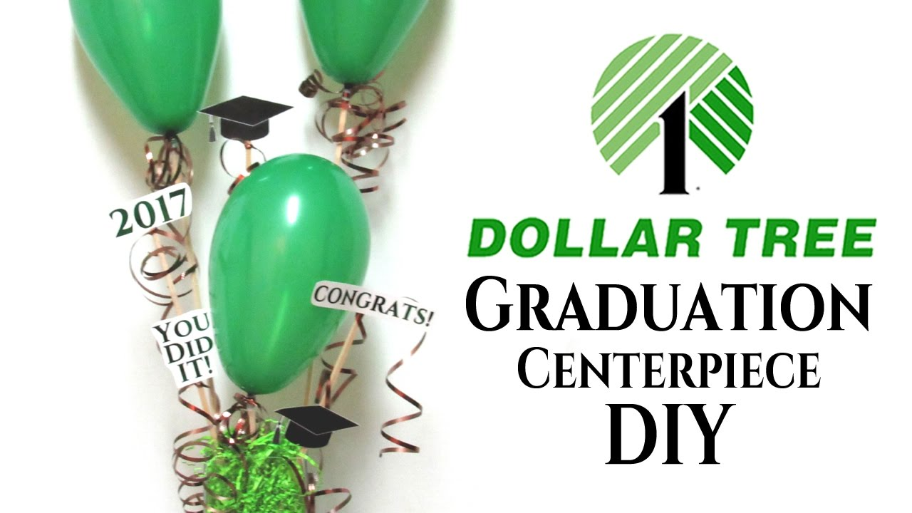 Diy Dollar Tree Graduation Centerpiece Ideas Youtube