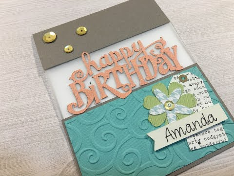 Cricut: Happy Birthday Split Front Card