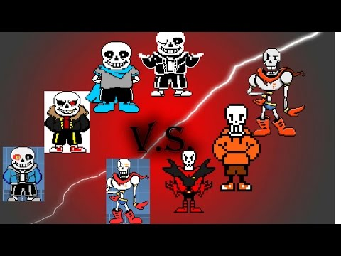 Mugen- Sans and AUs VS Papyrus and AUs