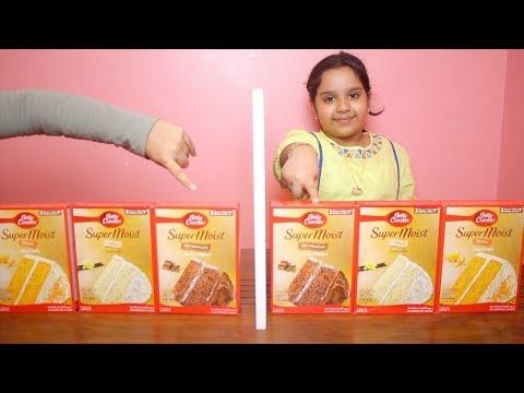تحدي التوأم بالكيك !!!  !!! twin telepathy cake challenge