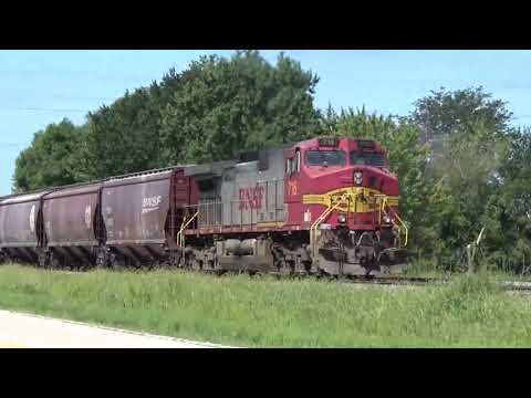 BNSF Barstow, IL One east and west plus Joslyn local August 22, 2019