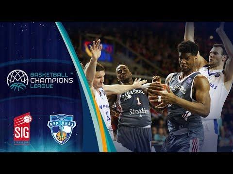 SIG Strasbourg v Neptunas Klaipeda - Full Game - Round of 16 - Basketball Champions League 2017-18