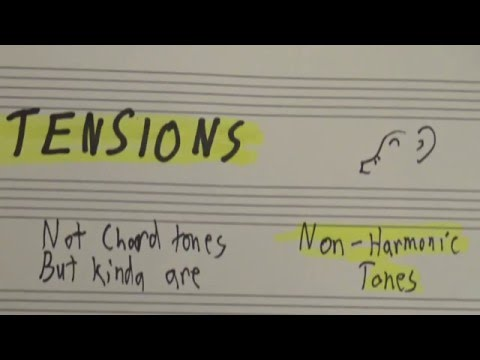 Tensions: Somewhere Over The Chord Tones