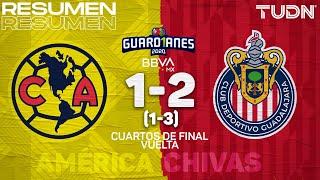 Resumen y goles | América 1(1)-(3)2 Chivas | Cuartos Vuelta - Guard1anes 2020 Liga BBVA MX | TUDN