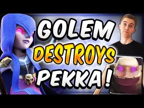 THIS GOLEM WITCH DECK DESTROYS PEKKA POISON! — Clash Royale