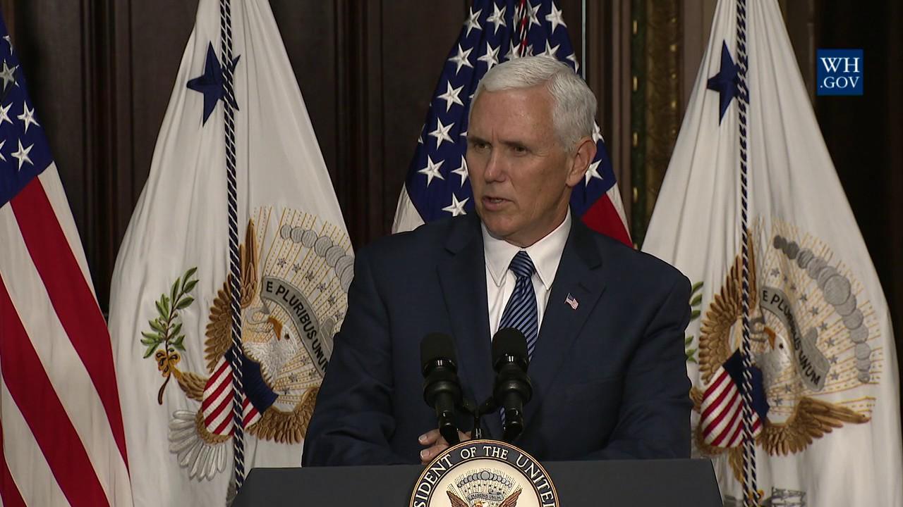 Hasil gambar untuk Vice President Pence Swears in the U.S. Ambassador to Japan
