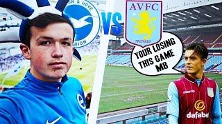 '89th min goal to deny us the title' - brighton vs aston villa match day vlog - 07/05/17