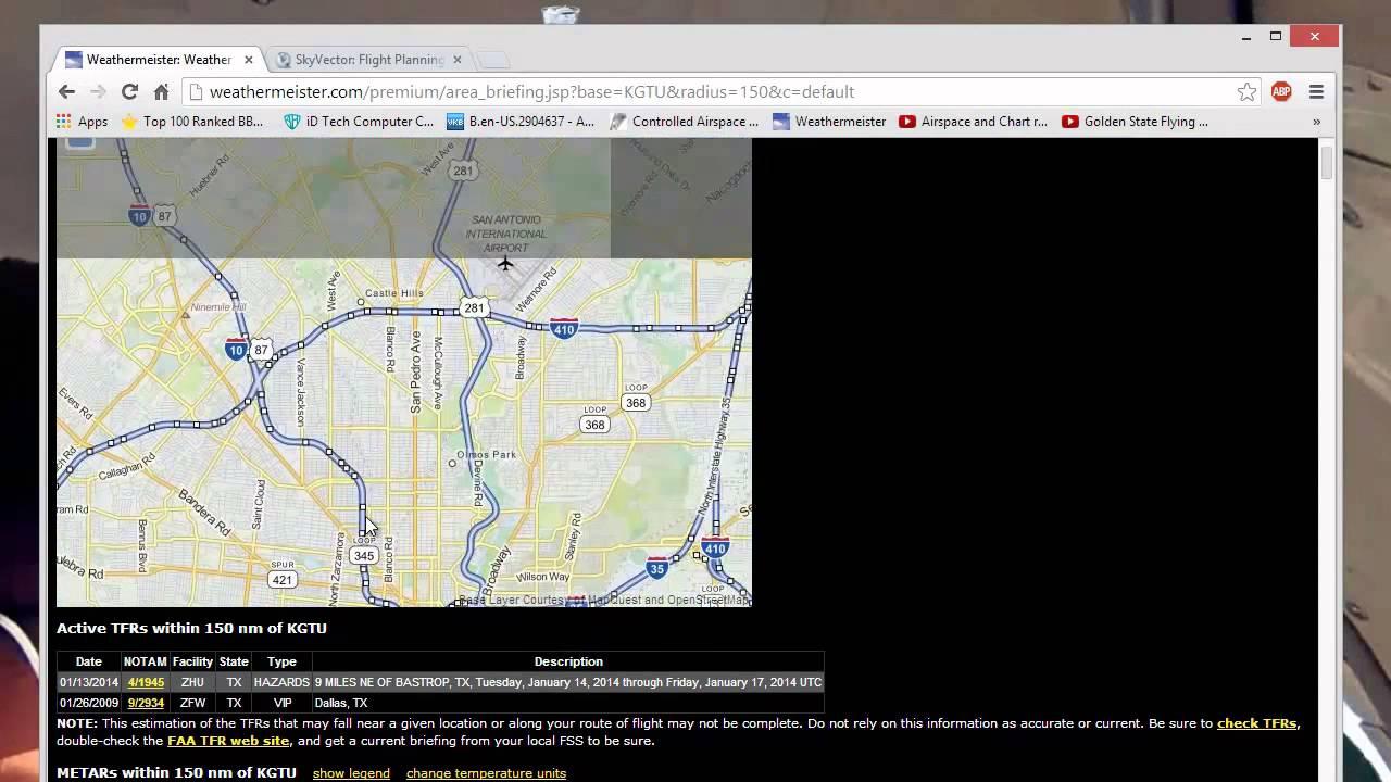 Skyvector flight vfr planning - Pre Flight Vfr Using Skyvector And Weathermeister Com
