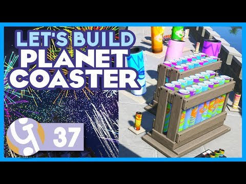 'Spectacularis' Fireworks Behind The Scenes | Let's Build Planet Coaster #37