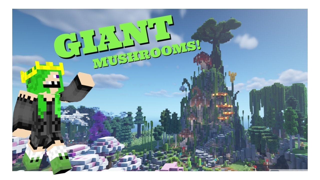 Minecraft FrogQueen SMP Episode 15   How to make giant MUSHROOMS!