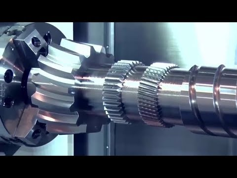 Amazing CNC Machine Lathe Working Complete Crankshaft And Technology Making An Aerospace Component